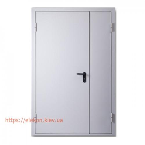 Двери противопожарные металлические двупольные ЕІ60, 2100х1400