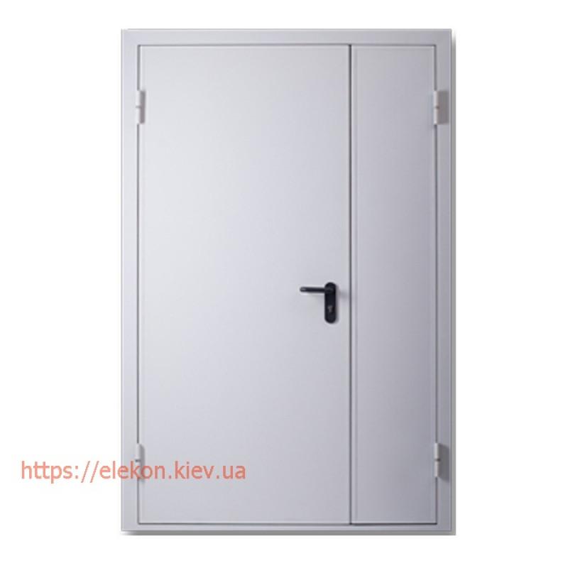 Двери противопожарные металлические двупольные ЕІ60, 2100х1200